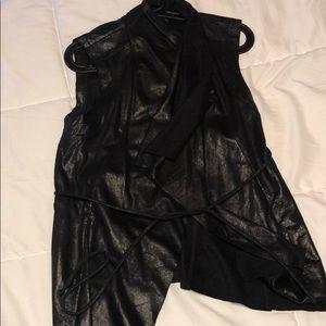 Vest -faux leather style